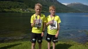 Odin Svoen og Vidar Standal under Jølster maraton